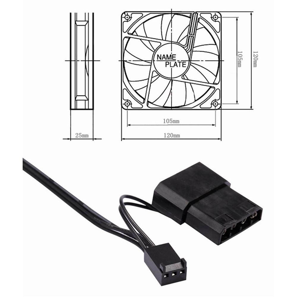 Computer Case Cooling Fan Wiring Diagram Pc Buy Universal Laptop 120mm 120x120x25mm 12v Dc Brushless Rh Jumia Co Ke Relay Residential