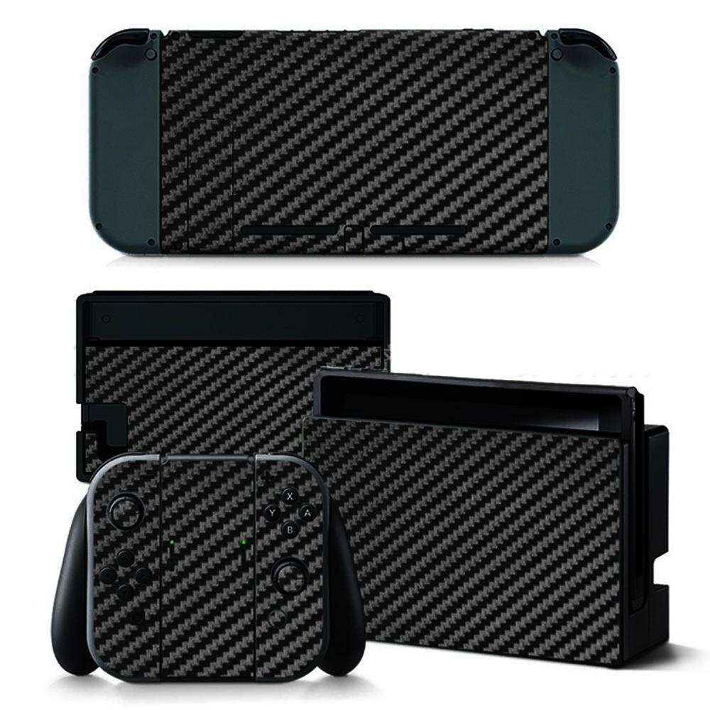 Universal Black Carbon Fiber Skin Full Wrap Sticker Decal