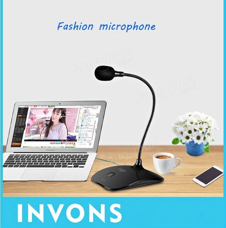 Mini Microphone 3.5mm Jack Recording Dynamic Condenser Mic for Video Chat Gaming Phone