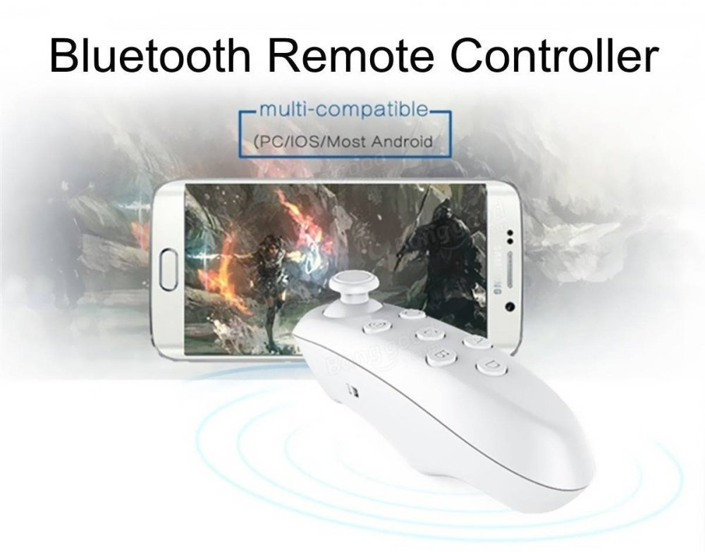 VR PARK Wireless Bluetooth Remote Controller Universal Mini Gamepad Mouse Joystick Selfie Shutter