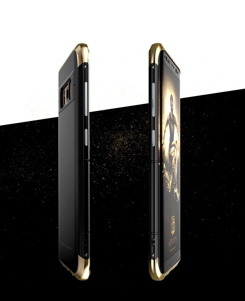 3 In 1 Metal Bumper Frame+Silicone Shell Case For Samsung Galaxy S8 5.8