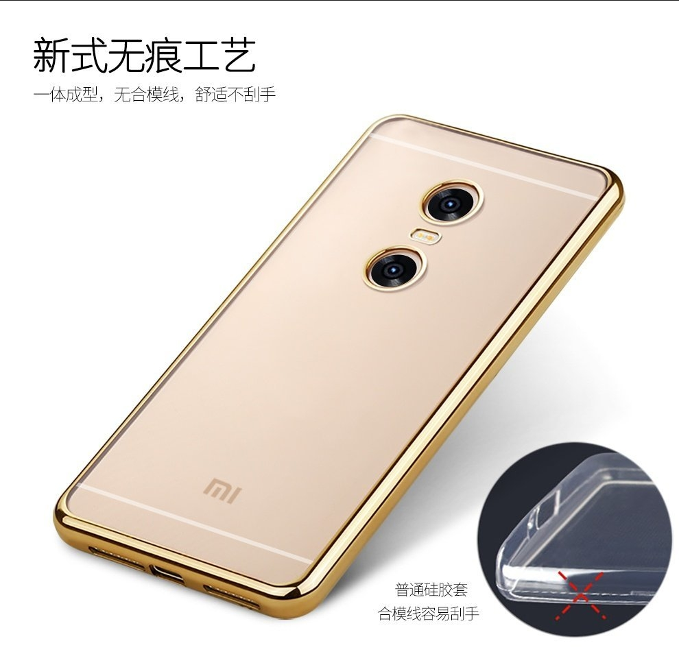 Buy Universal Tpu Clear Silicone Case Back Cover For Xiaomi Redmi Pro Gold 3 55model Perfectly Fits Note3 Note Luxury Brand Casefunction Dirt Resistant Protective