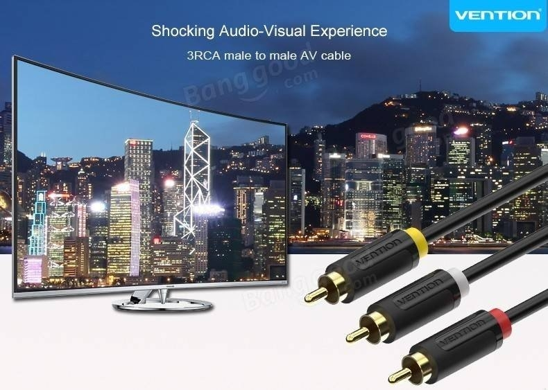 Vention 3RCA To 3RCA Cable Male to Male AV Cable 1m 1.5m 2m RCA Connector Video Cable For STB DVD