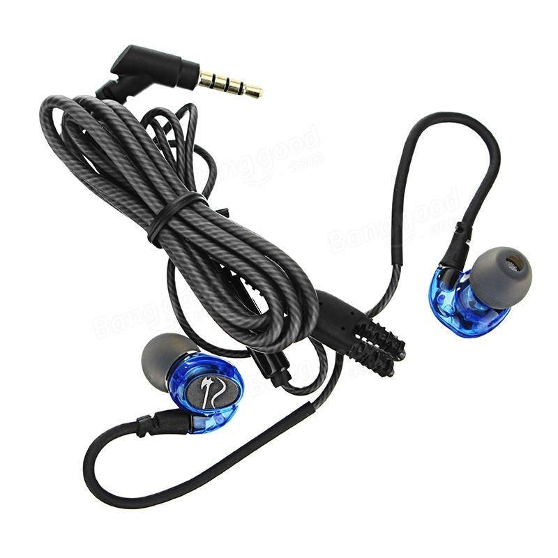 X2 Waterproof Deep Base Earphone Wire-Control Sports Earohone with Micphone