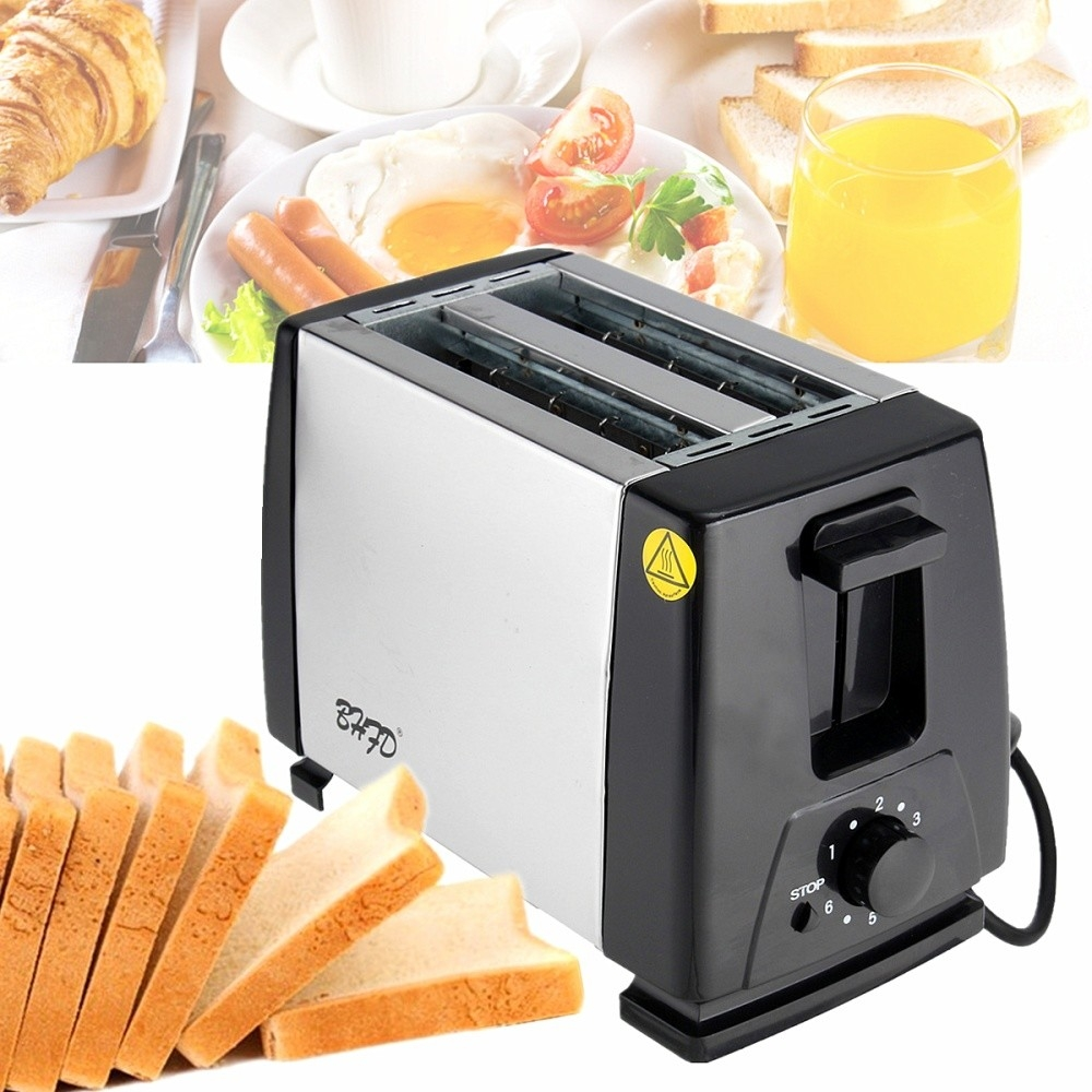 Universal 220V Electric Automatic 2 Slice Bread Toast Toaster