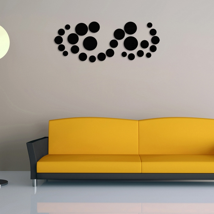 Buy UNIVERSAL DIY Circle Mirror Wall Stickers Home Bedroom Office ...
