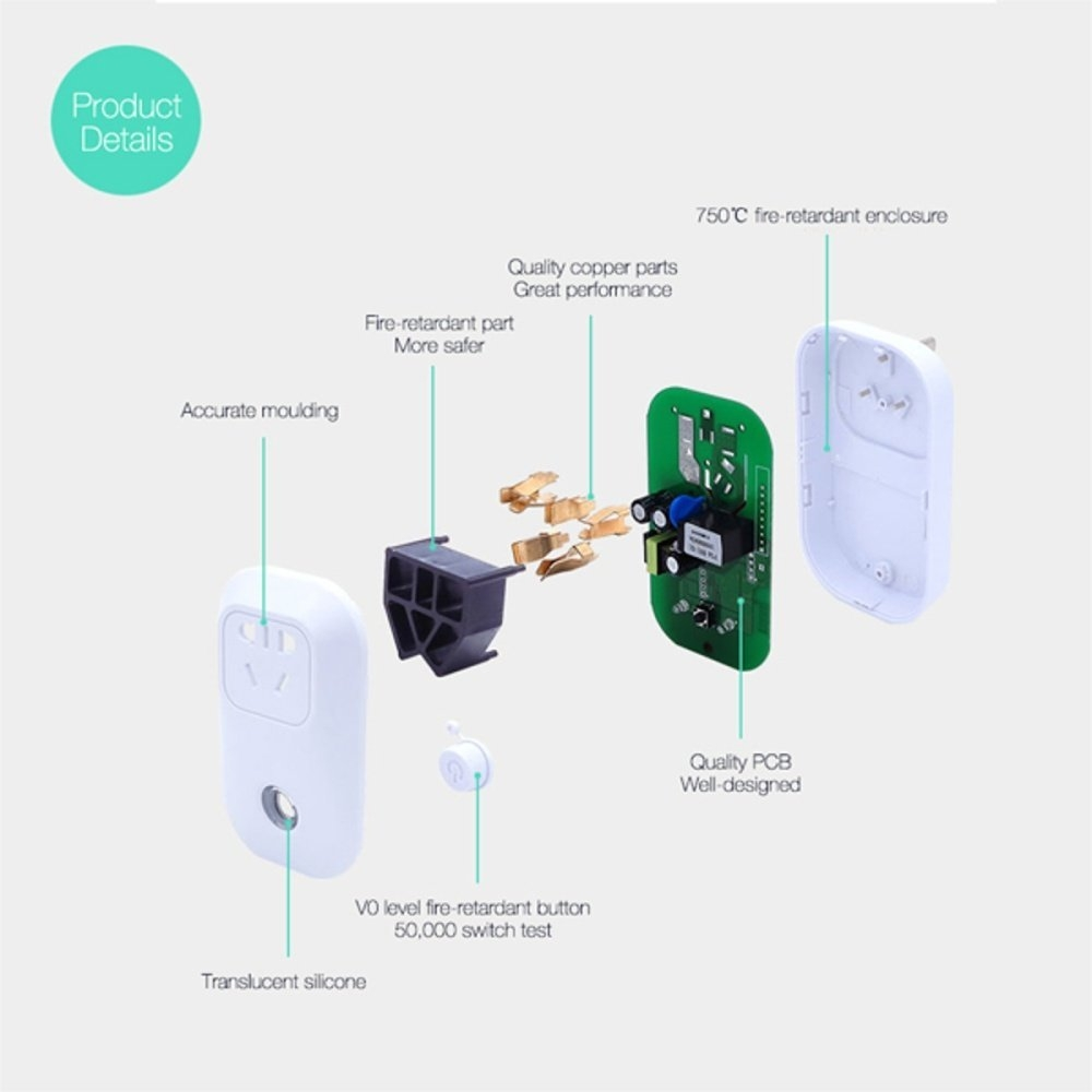 Buy Universal 10a 2200w Wifi Wireless Smart Remote Control Timer Timerswitch For Radio Applications Image