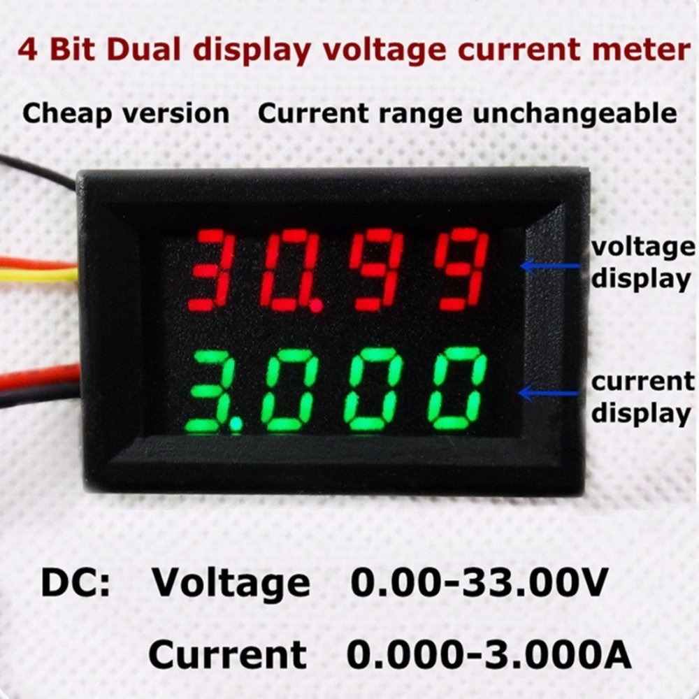 Buy Universal Four Pairs Ammeter Display Dc Voltage 0 33v 3a Red Digital Panel Wiring Diagram Image