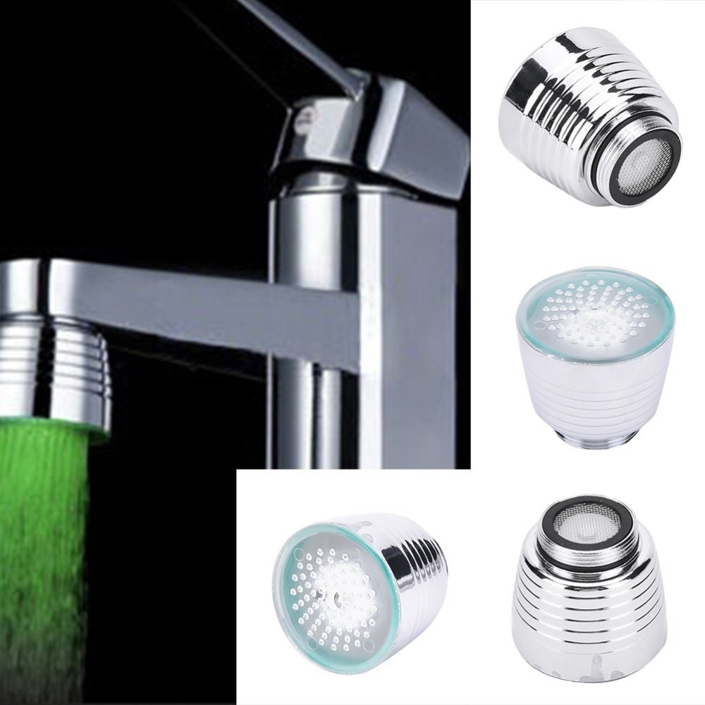 Buy UNIVERSAL LED Water Faucet Light 7 Colors Changing Glow Shower ...