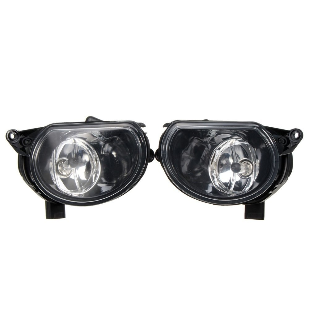 Universal Pair Front Bumper Halogen Clean Fog Lamps