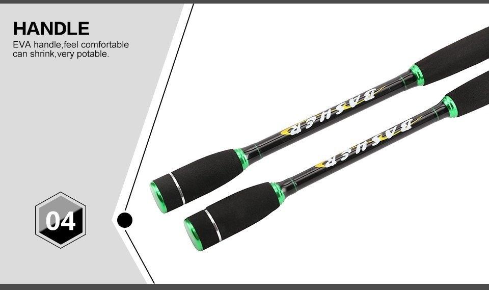 SeaKnight BASHER 2.1M/2.4M Spinning Telescopic Lure Fishing Rod W.7-28g Line W.6-20LB Spinning Rod