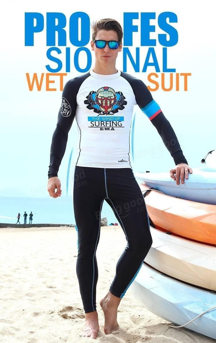 Men Diving Suit shirts Tops Long Sleeve Swimwear Waterproof Quick Drying Clothing Surfing Snorke