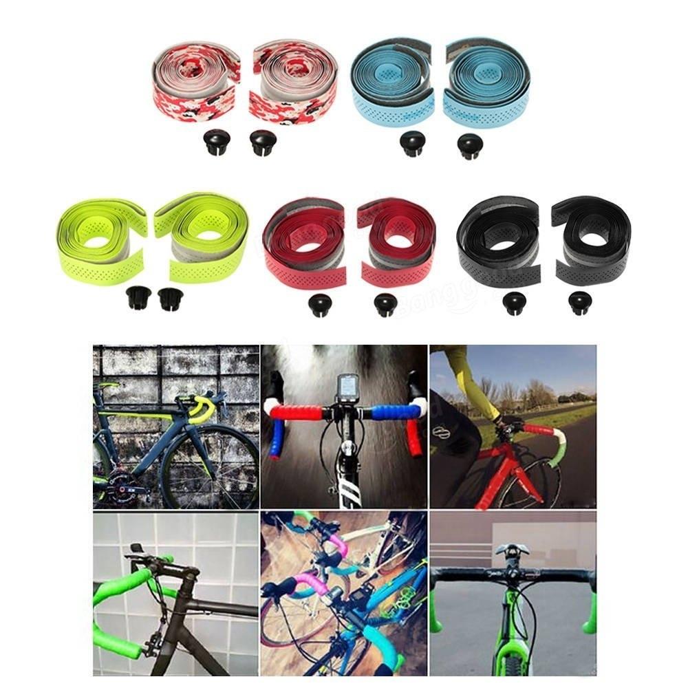 GUB-1620 2pcs Bicycle Handlebar Tape with 2 Bar Plug Belt Strap Bicycle Parts