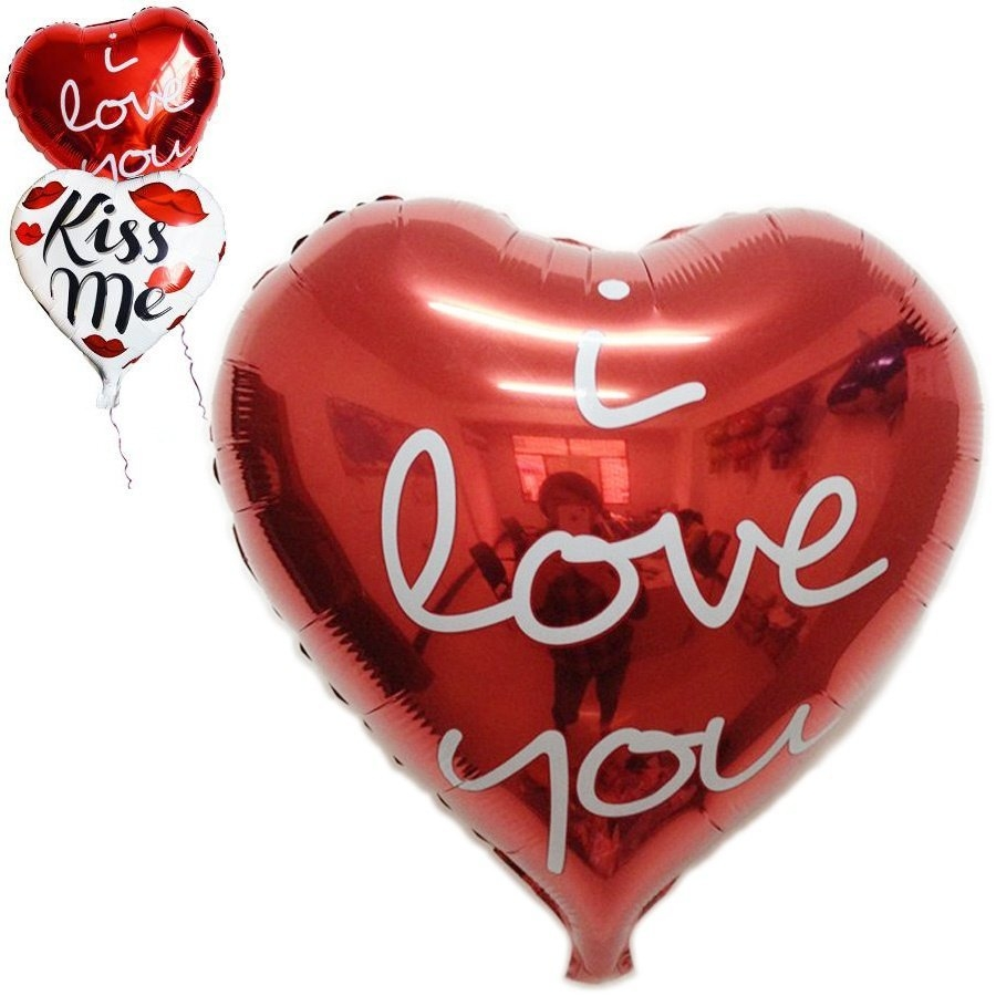 Universal 18'' Heart Love Foil Helium Balloon Birthday Party