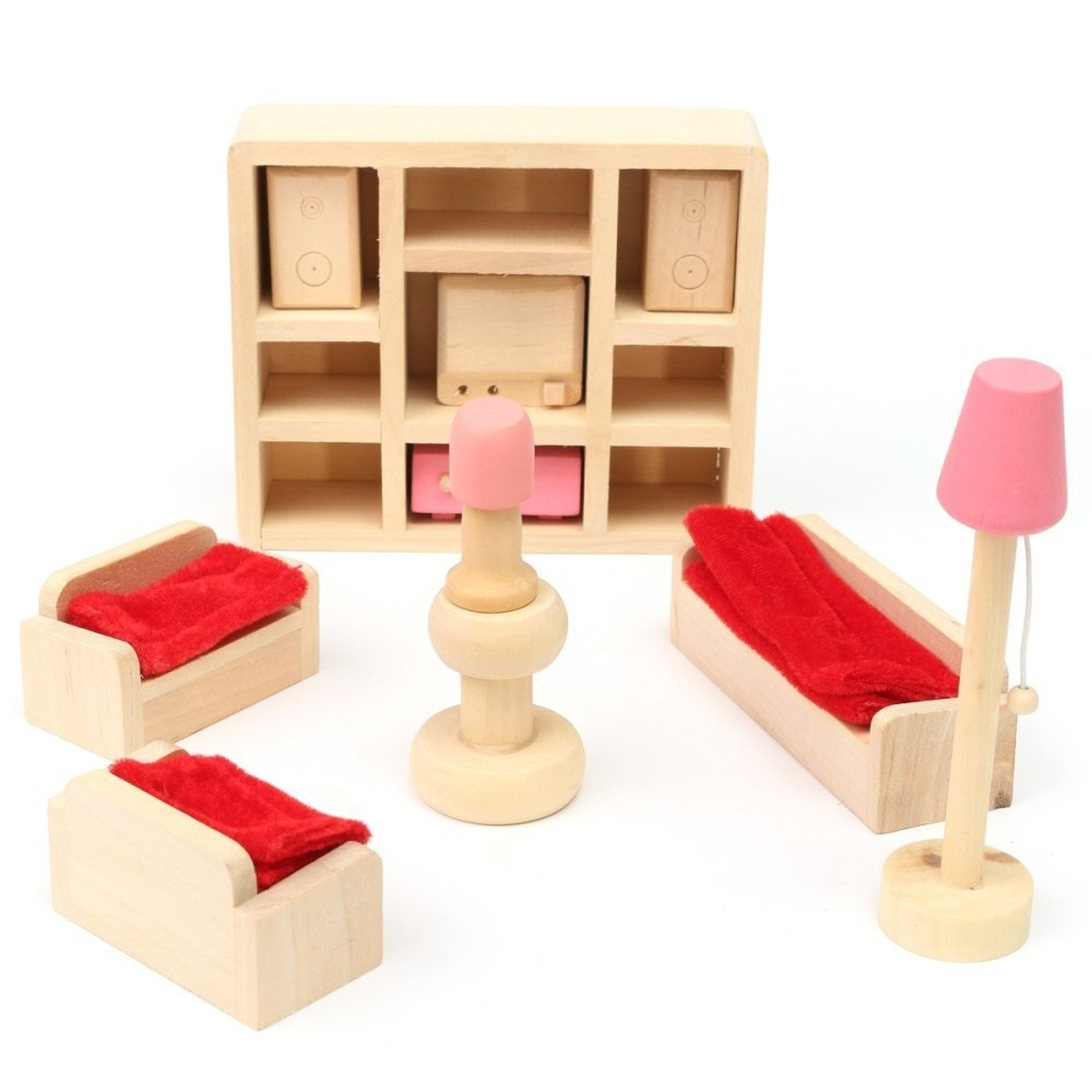 Buy Universal Miniature House Family Children Wooden Furniture Doll