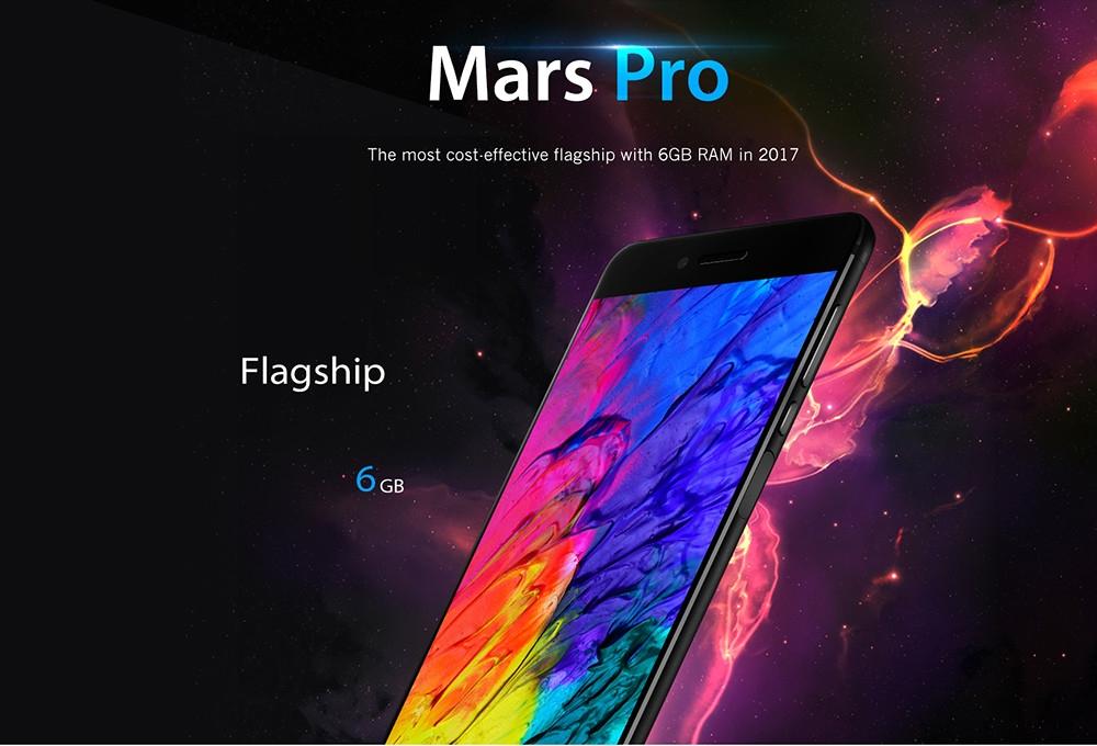 Vernee  Mars Pro 4G Phablet Android 7.0 5.5 inch Helio P25 Octa Core 2.5GHz 6GB RAM 64GB ROM Fingerprint Sensor 13.0MP Rear Camera Full Metal Body
