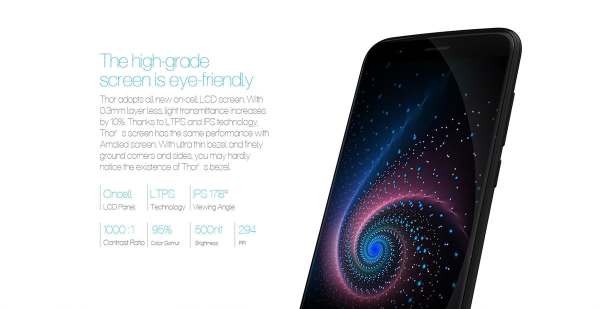 refurbish Vernee Thor 4G Smartphone 5.0 inch On-cell Corning Gorilla Glass 3 Screen Android 6.0 MTK6753 64bit Octa Core 1.3GHz 3GB RAM 16GB ROM 13.0MP Rear Camera Fingerprint GPS Bluetooth 4.0