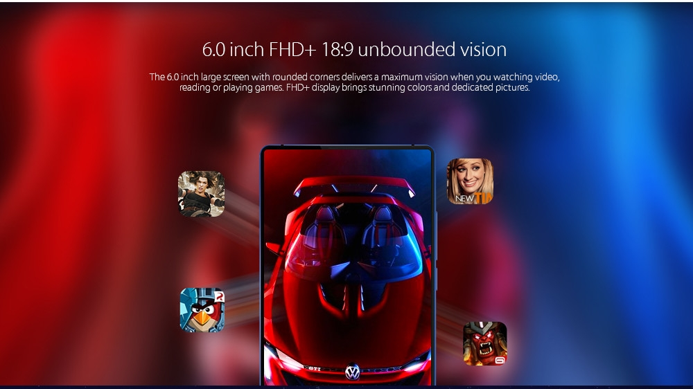 Vernee Mix 2 4G Phablet 6.0 inch Android 7.0 MTK6757CD Octa Core 2.5GHz 4GB RAM 64GB ROM 13.0MP + 5.0MP Dual Rear Cameras Fingerprint Scanner