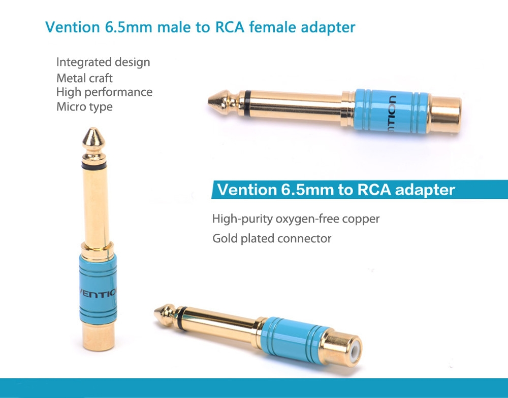 Vention VDD - C03 6.5mm Connector Male to RCA Female Converter