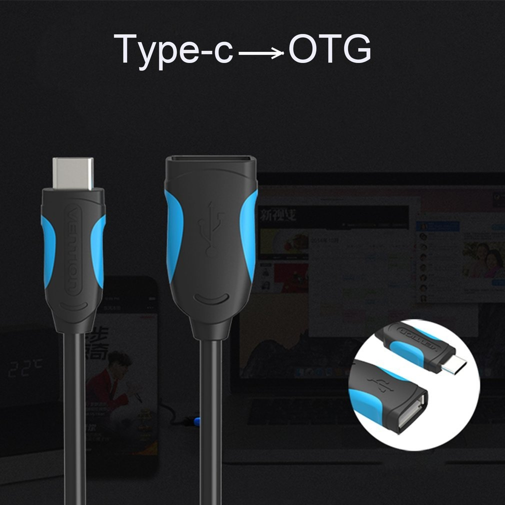 Vention VENTION Female USB 2 0 To Male Type-C Cable Adapter