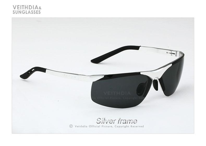 39c8778b6042 Veithdia VEITHDIA Brand Men s Polarized Sunglasses Rimless Rectangle ...