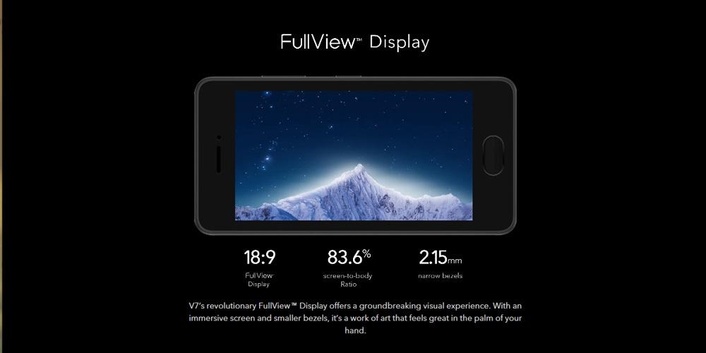 Vivo?V7 4G Phablet 5.7 inch Android 7.1 Qualcomm Snapdragon 450 Octa Core 1.8GHz 4GB RAM 32GB ROM 24.0MP Selfie Camera 3000mAh Battery Fingerprint Sensor