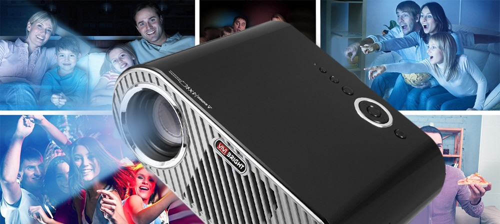 VIVIBRIGHT GP90 Projector 3200 Lumens Home Theater Support 1080P
