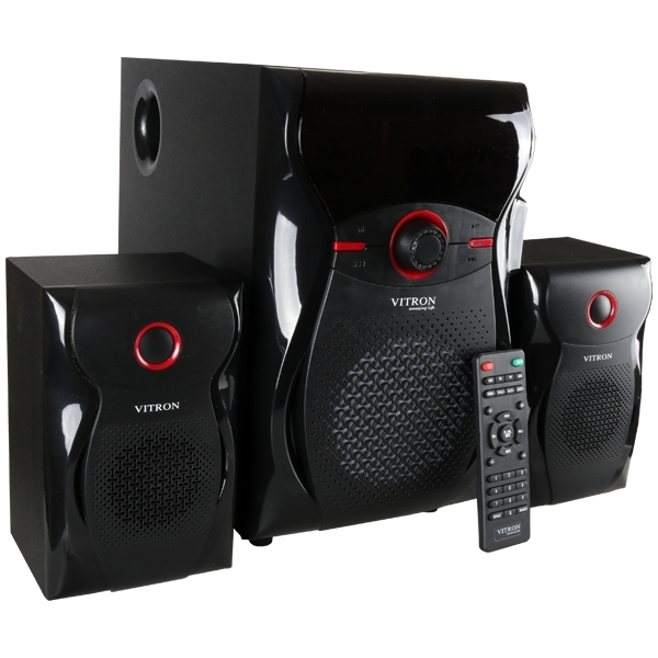 ITRON V604 Home Theater Sound System 2.1 Multimedia BT Full Functional Remote Speaker Subwoofer black 65W v604 3