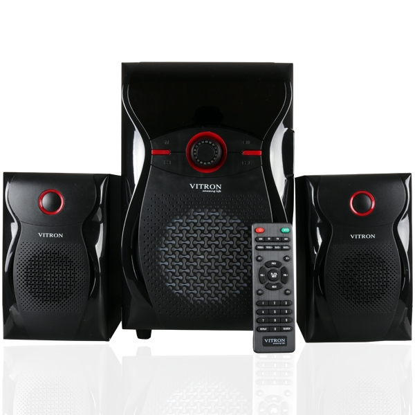 ITRON V604 Home Theater Sound System 2.1 Multimedia BT Full Functional Remote Speaker Subwoofer black 65W v604 1