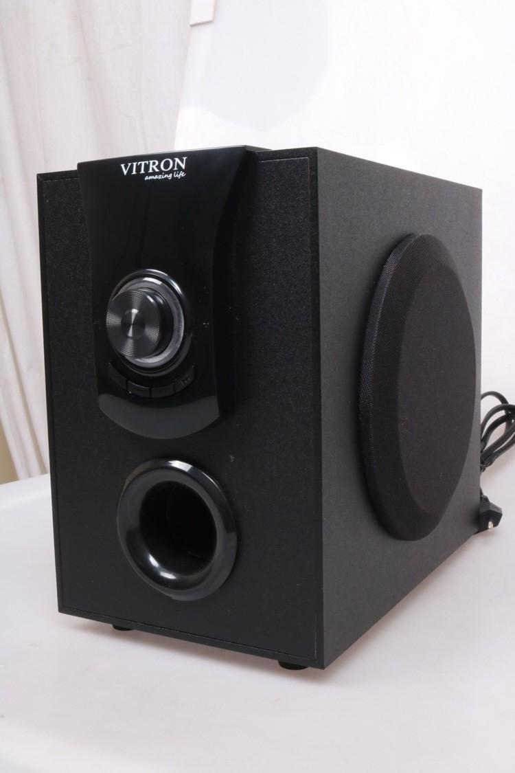 VITRON V411D Sound System 2.1 Functional Remote Speaker Subwoofer black 25w v411d 4