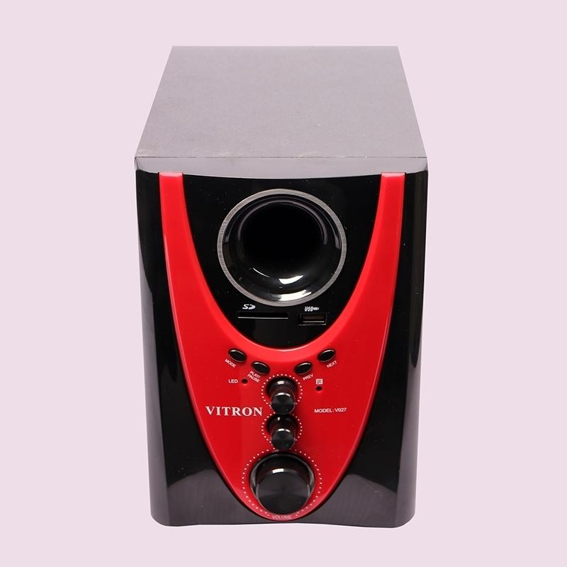 VITRON V027 Home Theater Sound System 2.1 Multimedia Bluetooth Speaker Subwoofer black&red 25w V027 2
