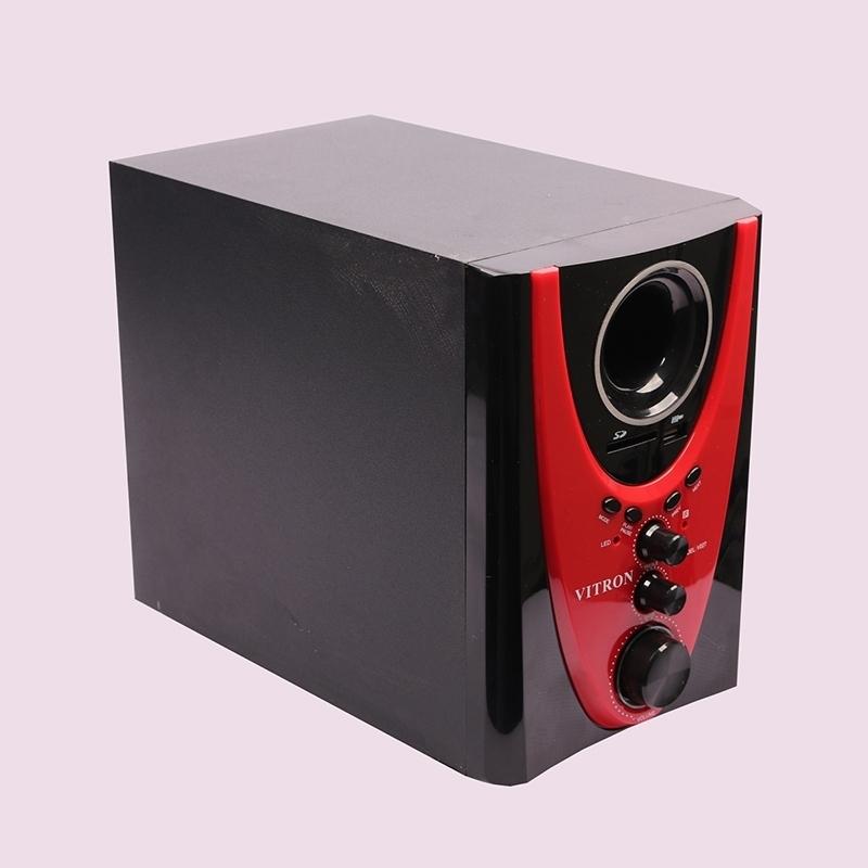 VITRON V027 Home Theater Sound System 2.1 Multimedia Bluetooth Speaker Subwoofer black&red 25w V027 3