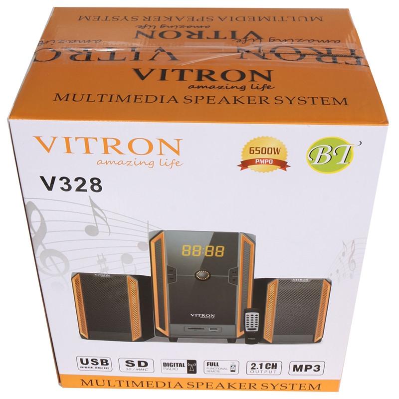 VITRON V328 2.1CH USB Stereo Multimedia Speaker System Subwoofer For Laptop PC Computer Black&Yellow 35w V328 4