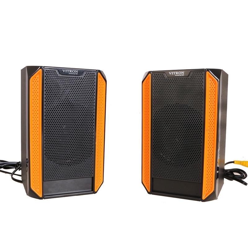 VITRON V328 2.1CH USB Stereo Multimedia Speaker System Subwoofer For Laptop PC Computer Black&Yellow 35w V328 3