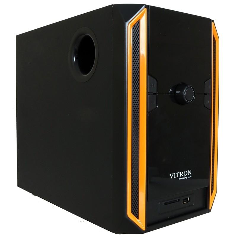 VITRON V328 2.1CH USB Stereo Multimedia Speaker System Subwoofer For Laptop PC Computer Black&Yellow 35w V328 2