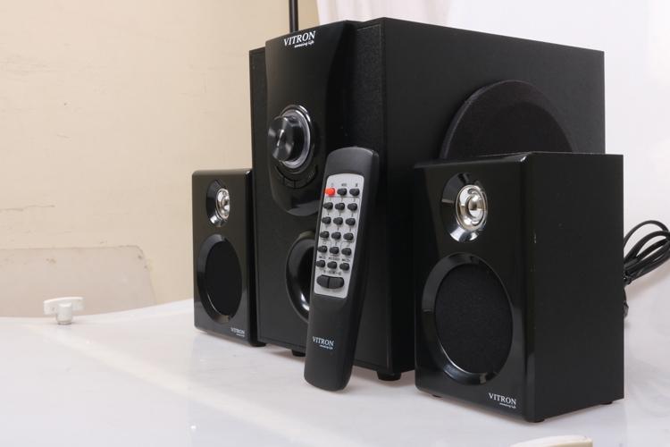VITRON V411D Sound System 2.1 Functional Remote Speaker Subwoofer black 25w v411d 1
