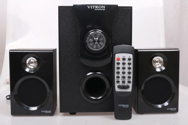 VITRON V411D Sound System 2.1 Functional Remote Speaker Subwoofer black 25w v411d 2