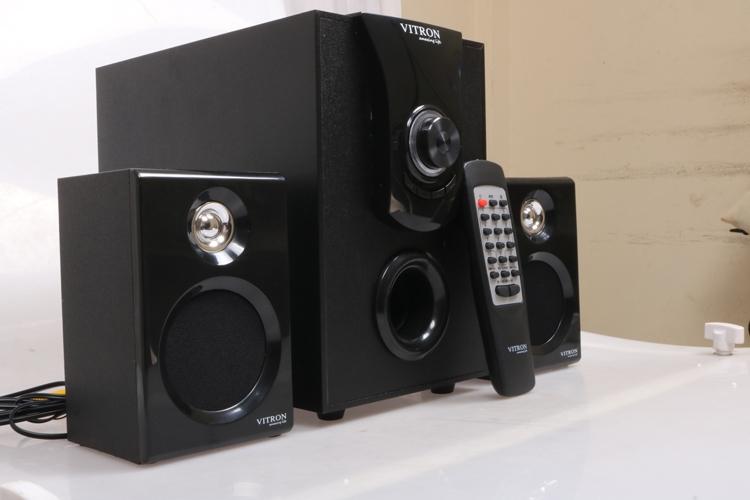 VITRON V411D Sound System 2.1 Functional Remote Speaker Subwoofer black 25w v411d 3