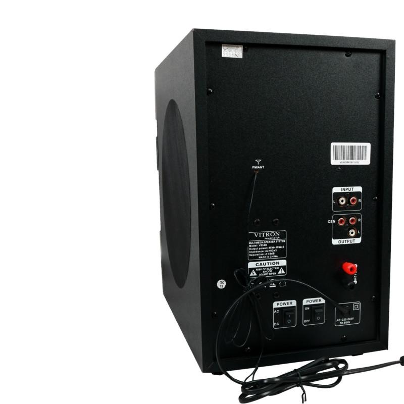 VITRON V834D Home Theater Sound System 3.1 Multimedia Bluetooth Speaker Subwoofer black 75w V834D 4