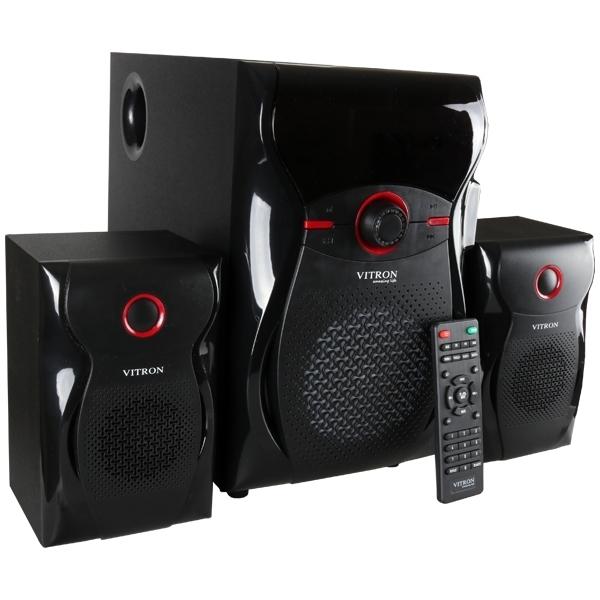 ITRON V604 Home Theater Sound System 2.1 Multimedia BT Full Functional Remote Speaker Subwoofer black 65W v604 3