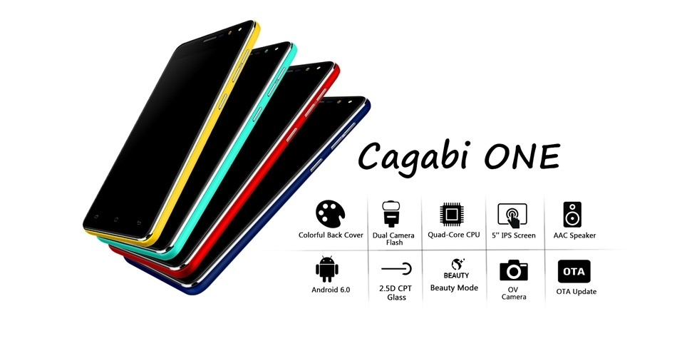 Vkworld Cagabi One 5.0-Inch Android 6.0 OTA 1GB RAM 8GB ROM MT6580A Quad-Core 1.3GHz 3G Smartphone