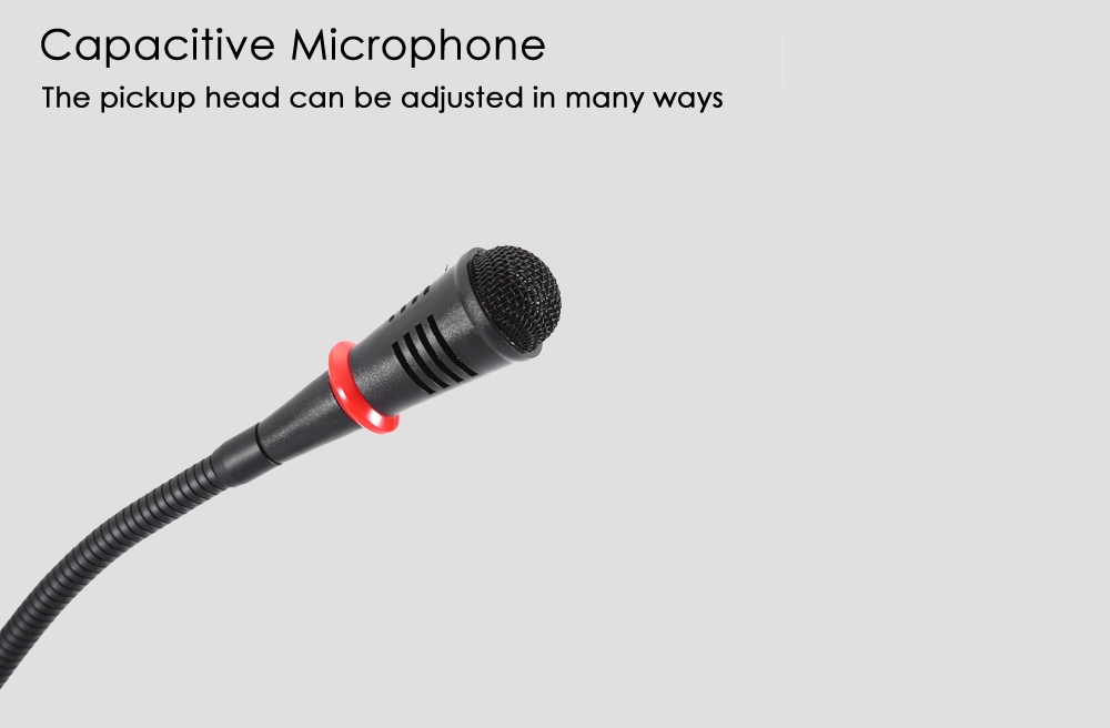 WEISRE M - 380 Wired Capacitance Microphone Noise Canceling Mic