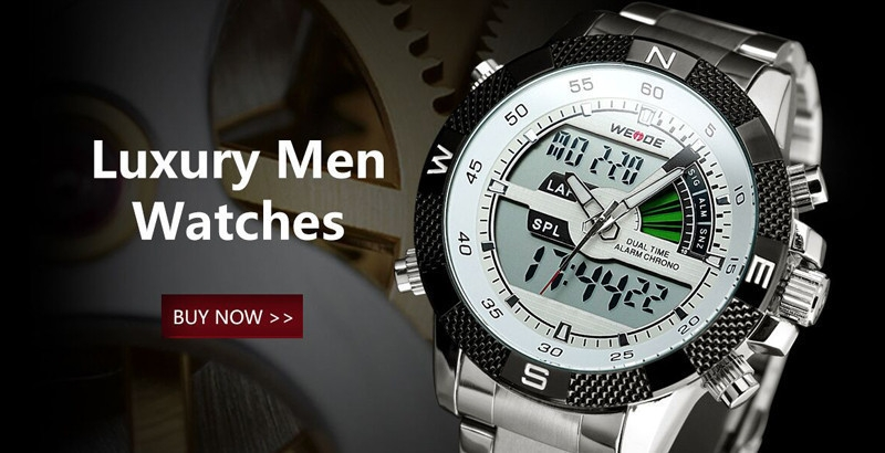 Weide Multifunction Men Sport Watch Solar Energy Date Quartz Digital