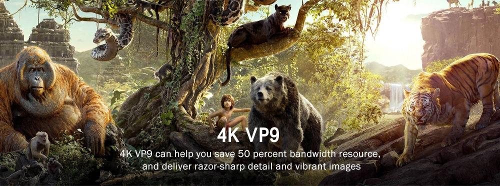 Wechip V5 TV Box Amlogic S905X  2GB RAM + 16GB ROM Android 6.0 2.4GHz + 5GHz WiFi Bluetooth 4.0