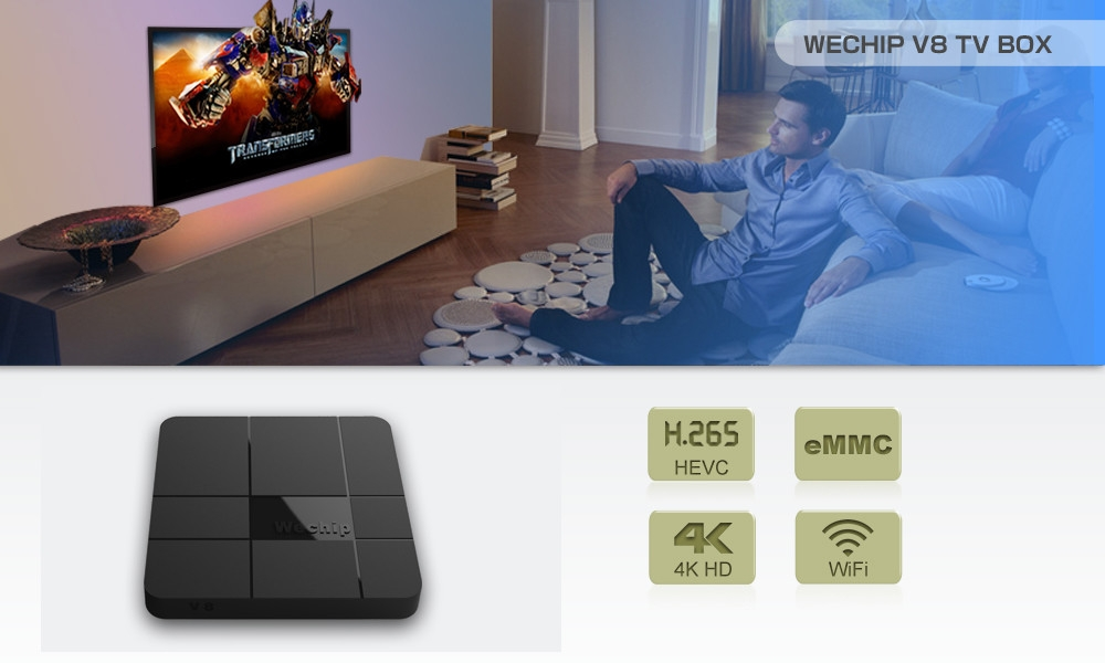 Wechip V8 TV Box Amlogic S905W 2.4GHz WiFi Android 7.1