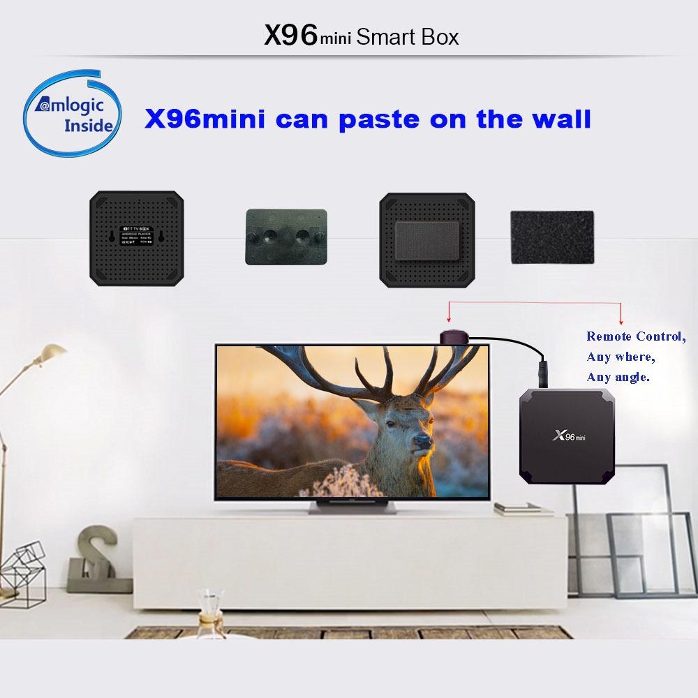 Cheapest TV box X96 mini Android7.1 1G/2G ram smart IPTV box media player X96 mini s905w