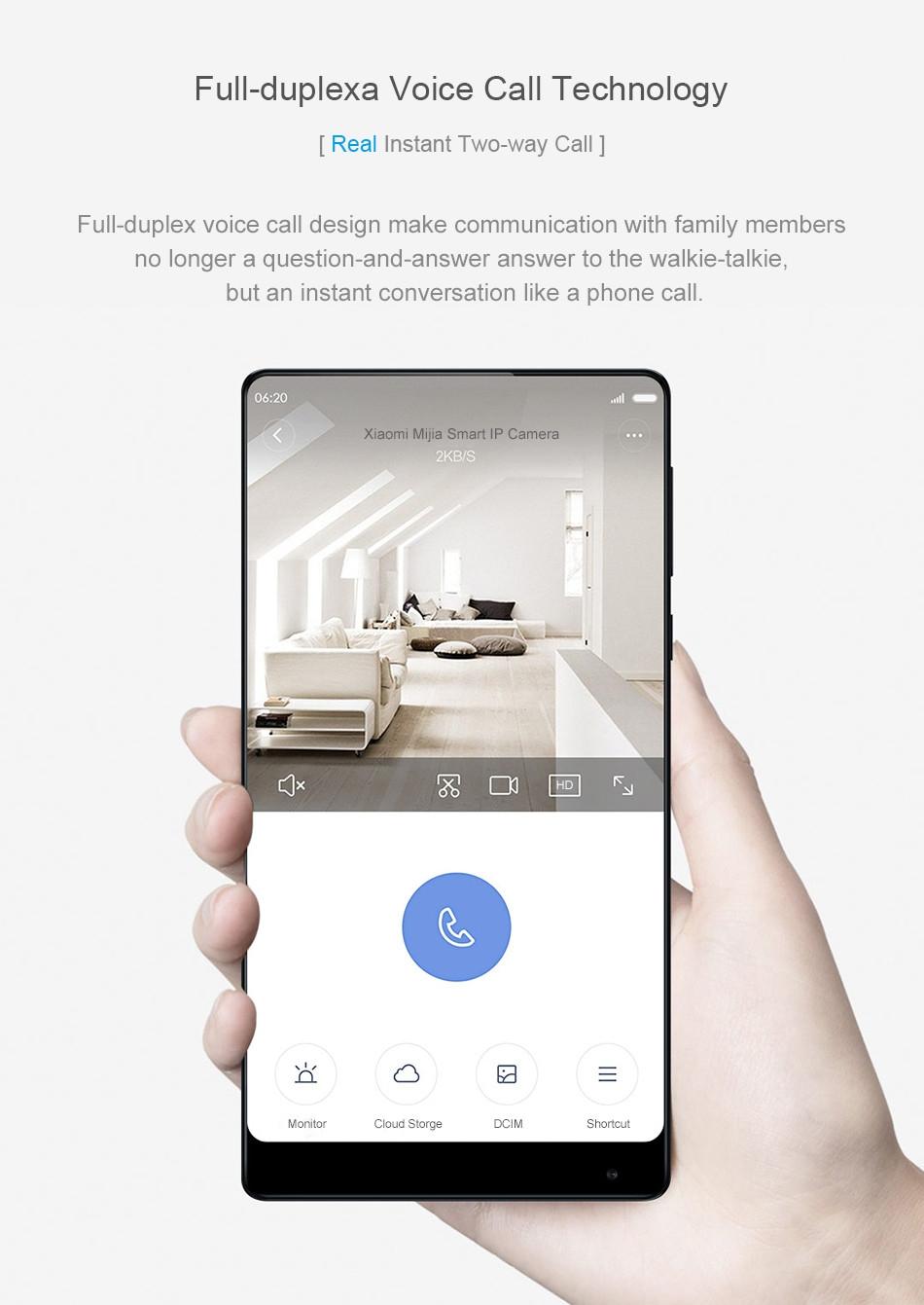 Original Xiaomi Mijia AI Smart Home 130° 1080P HD Intelligent Security WIFI IP Camera Movement Detection Monitor