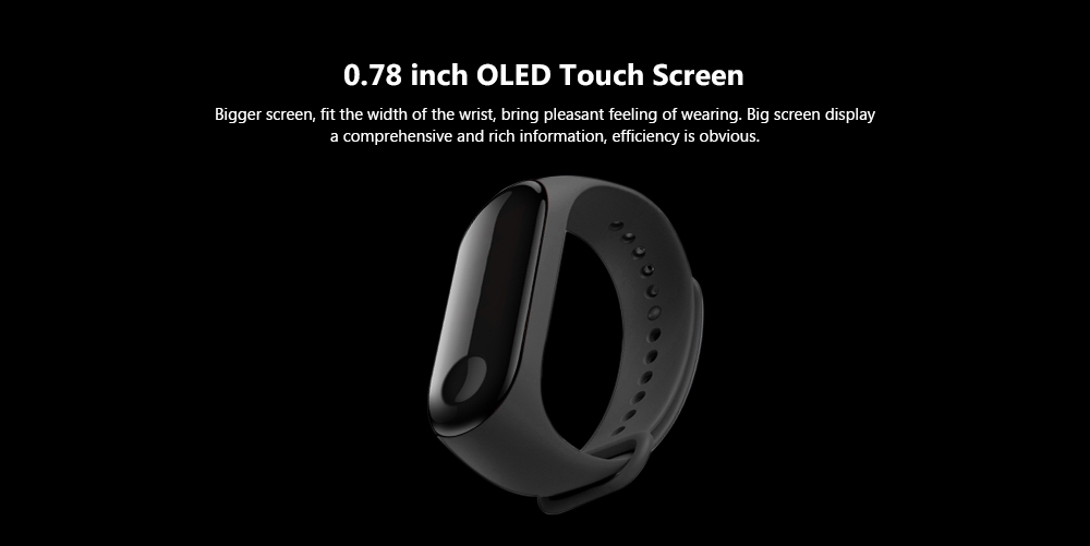 Xiaomi Mi Band 3 Smart Bracelet Heart Rate Monitor Bluetooth 4.2 Wristband