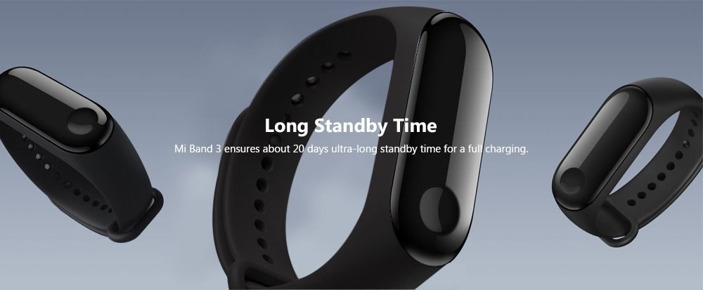 Xiaomi Mi Band 3 Smart Bracelet Heart Rate Monitor Bluetooth 4.2 Wristband
