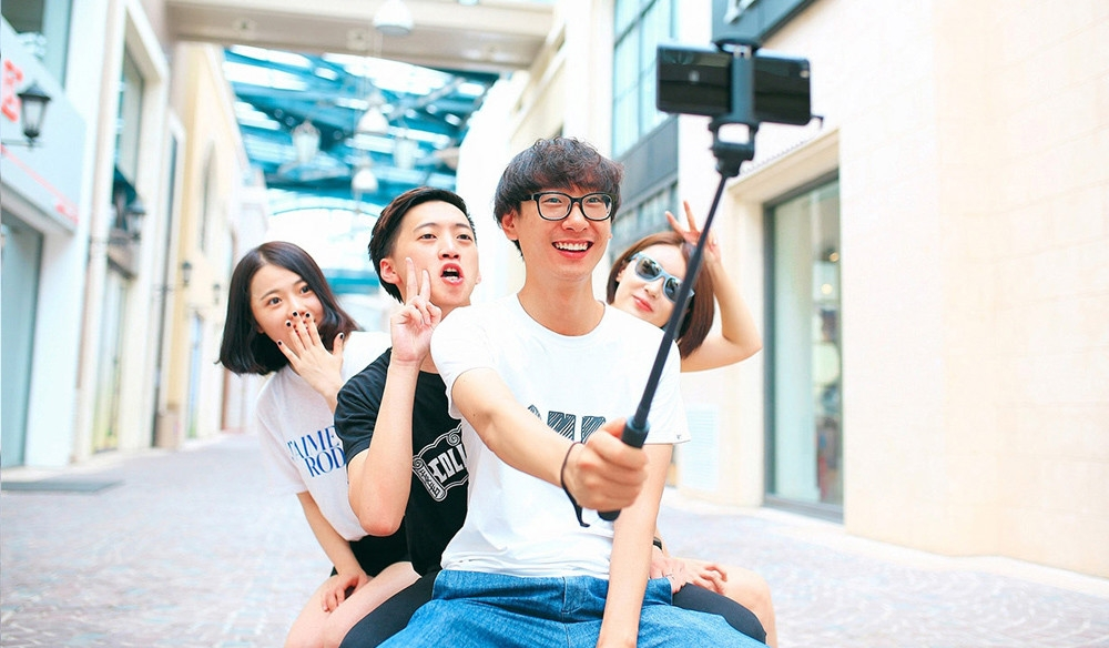 Xiaomi Wire Control Selfie Stick Monopod Camera Shutter 270 Degree Rotation